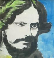 A portrait of R.N.Tagore by Samarjit Roy